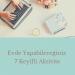 Evde Yapabileceğiniz 7 Keyifli Aktivite